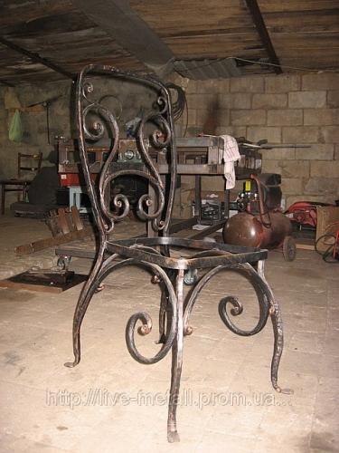 Кованые стулья, кованые табуреты, кованые столы кухонные наборы.