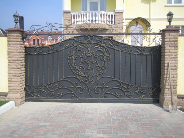 Кованые ворота, калитка