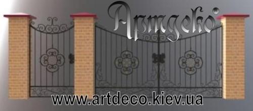 Кованые ворота, калитки, ограды