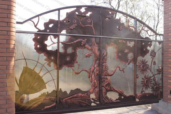 Кованые ворота откатные, кованые ворота распашные, автоматические ворота.