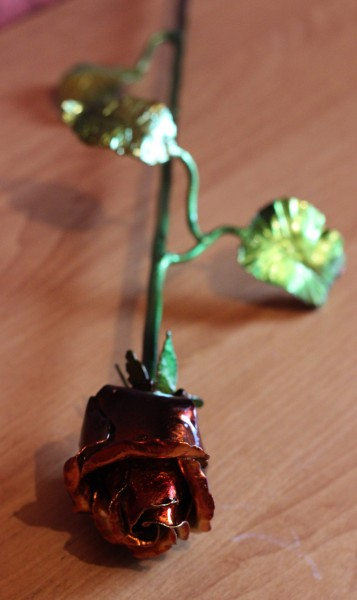 кованый цветок на заказ в Днепропетровске