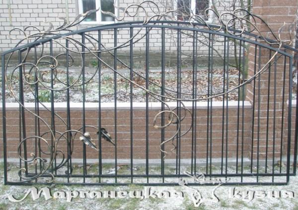 Кованый забор1
