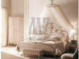 Фото  1 Кованная кровать с балдахином и прикроватным пуфиком 1895272