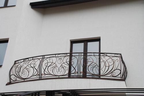 Кованный балкон. Детальная прорисовка эскиза.