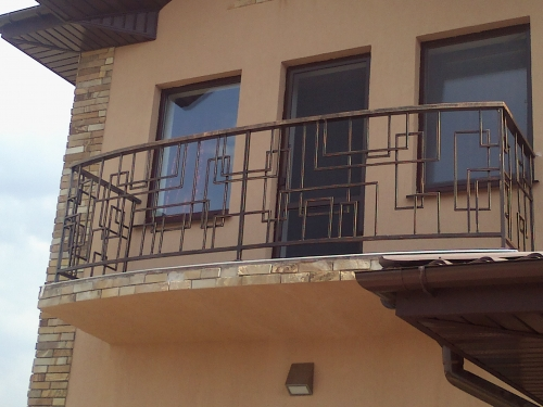 Кованный балкон. Изготовление по эскизу.