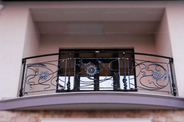 Кованое балконное ограждение в Днепропетровске и Днепропетровской обл. Заказ, доставка, установка.