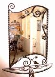 Кованое зеркало консоль