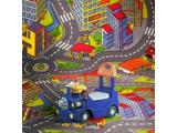 Фото  3 Ковер дорога в детскую комнату для мальчика Смарт Сити 2334448