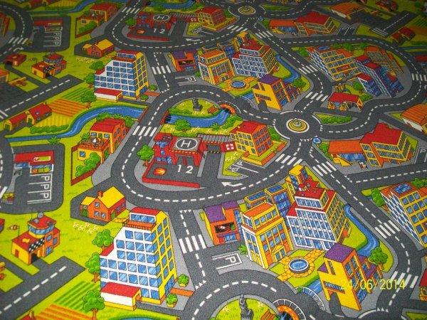 Фото  1 Ковер дорога в детскую комнату для мальчика Смарт Сити 2134448