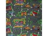 Фото  1 Ковер в детскую Сити Лайф Сити Лайф, войлочная, 2.5х2, полиамид, 5 мм, Серо-зеленый 2134138