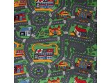 Фото  1 Ковер в детскую Сити Лайф Сити Лайф, войлочная, 2х1.5, полиамид, 5 мм, Серо-зеленый 2134134