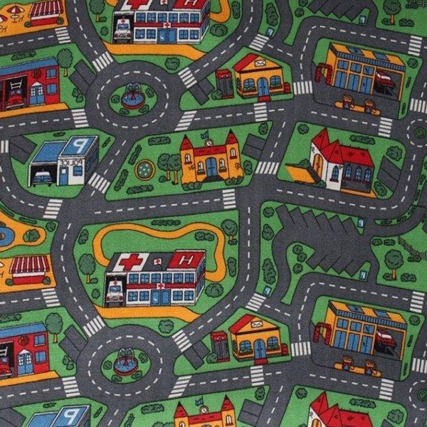 Фото  1 Ковер в детскую Сити Лайф Сити Лайф, войлочная, 4х3, полиамид, 5 мм, Серо-зеленый 2134142