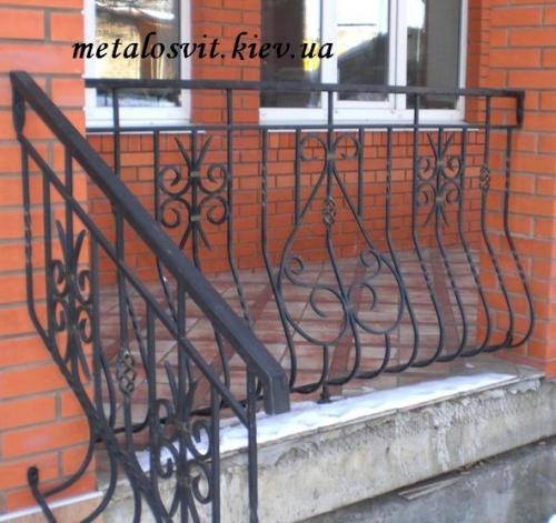 ковка перила лестничные наружные на улицу