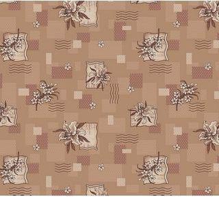Фото  1 Ковролин для дома Лилия коричневый на войлочной основе цветной 2134641