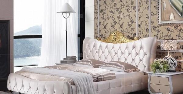 Кожаная кровать Ангел