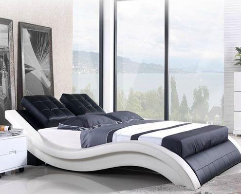 Кожаная кровать Лада