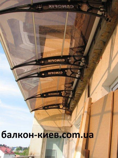 Фото  1 Монтаж козырька из поликарбоната Canofix. Киев. Только работа 1983265
