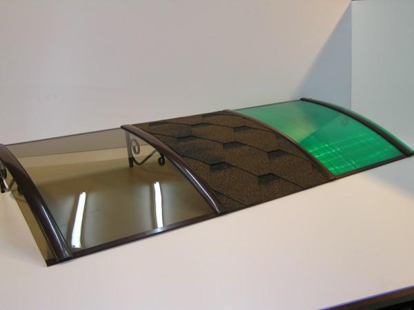 Козырек с поликарбонатом 850*1500 мм