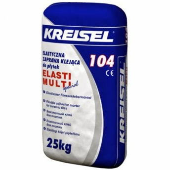 Крайзель 104 Эласти Мульти эластичный клей для керамической плитки Kreisel 104 Elasti Multi, 25 кг