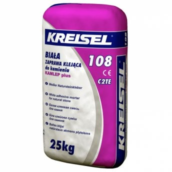 Крайзель 108 Клебер клей для мрамора Кreisel 108 Naturstein Kleber, белый 25 кг