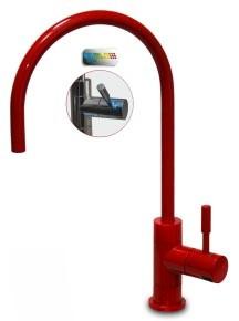 Кран Модерн с индикатором (красный)