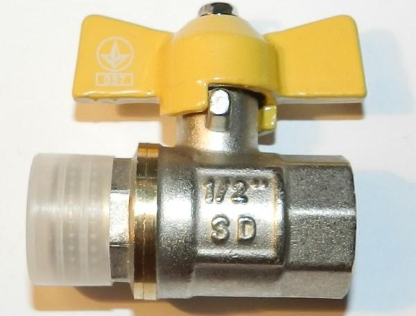 Кран шаровый S. D. в/н 25 (бабочка) газ