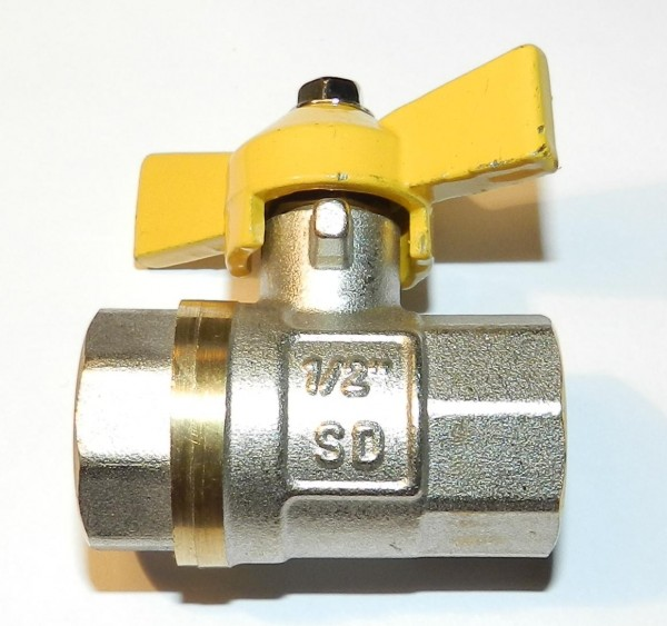 Кран шаровый S. D. в/в 25 (бабочка) газ