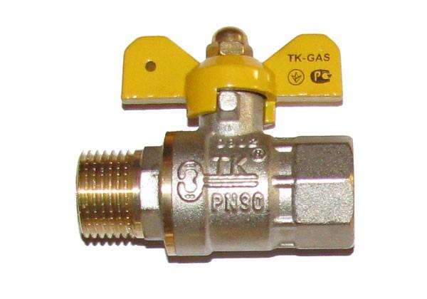 Кран шаровый Т. К. в/н 25 (бабочка) газ