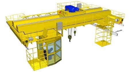 Краны мостовые г/п 5 - 250т, пролётом до 46м, режим работы А3-А8