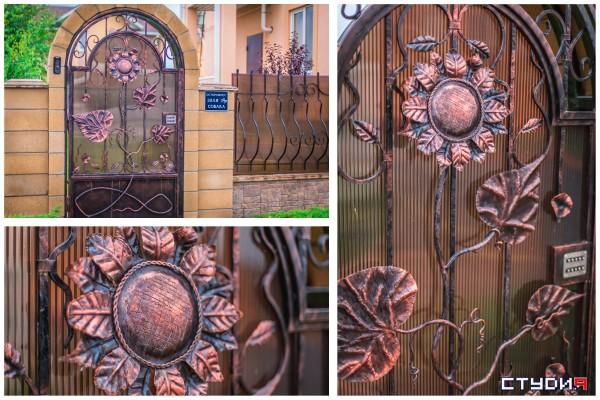 красивые кованые калитки в Днепропетровске и в Украине