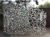 красивые ворота материал нержавеющпя сталь фото