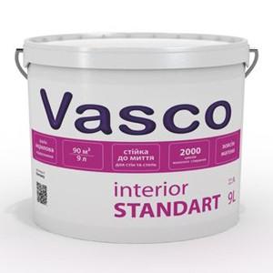 Краска акриловая для стен и потолка Интериор Стандарт (Васко). База А