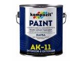 Фото  1 Краска для бетонных полов Kompozit АК-11 шелковисто-матовая 10 л белый 2038859