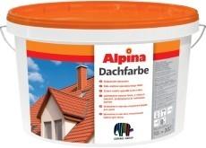 Краска для крыш, шифера и других минерал. поверхностей Alpina DACHFARBE. Атмосферостойкая, водоразбавляемая.