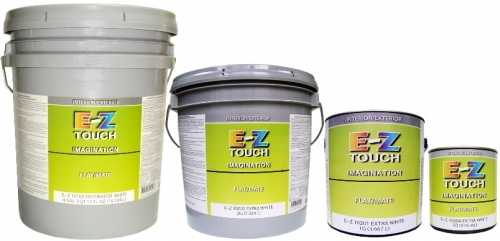 Краска E-Z TOUCH Imagination акрило-латексная матовая для внутренних и наружных работ. Экстра белая (база)