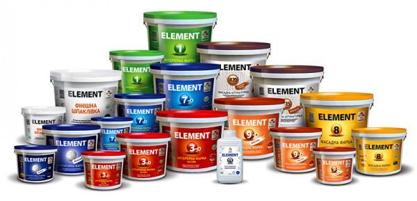 Краска латексная 1 литр. Element №2 белая. Износостойкая. Для внутренних работ. Расход 4,5-5м. кв/литр в два слоя.