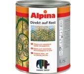 Краска на ржавчину Alpina DIREKT AUF ROST. «три в одном»: защита от коррозии, грунтовка и финишное покрытие.