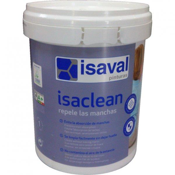 Фото  1 Акриловая краска для стен с особой стойкостью к бытовым пятнам и загрязнениям - Изаклин ISAVAL 1л до 12м2 1848854