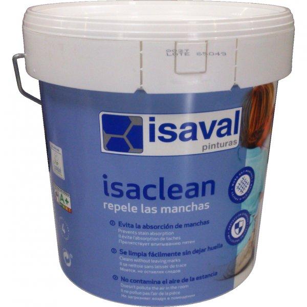 Фото  1 Акриловая краска для стен с особой стойкостью к бытовым пятнам и загрязнениям - Изаклин ISAVAL 4л до 48м2 1848853