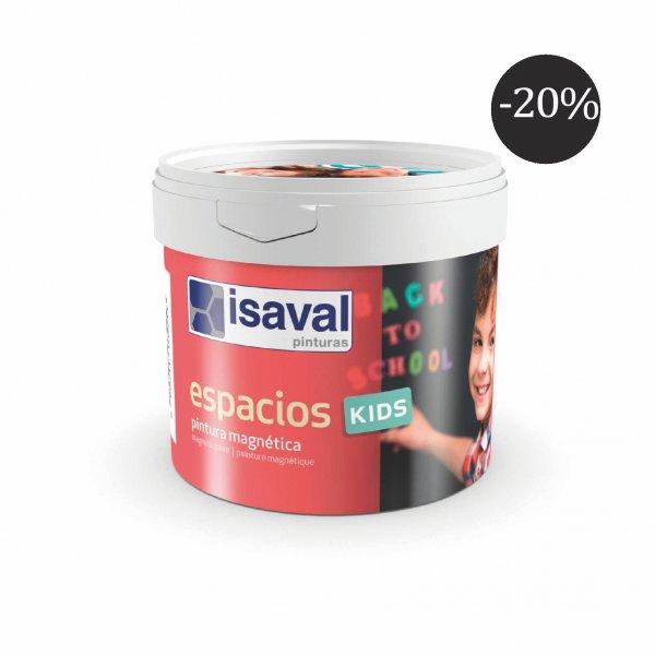 Фото  1 Магнітна фарба для дитячої кімнати - Espacios Kids 0,5л isaval, чорна 1848109