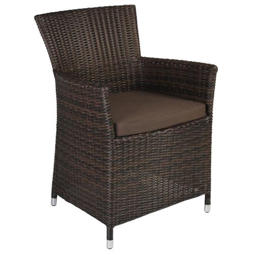 Кресла из искусственного ротанга темно-коричневые с подушкой в наличии в Киеве