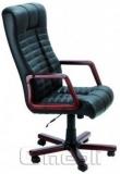 Кресло Атлантис EXTRA Неаполь Черный N 20 подлокотники орех A4678