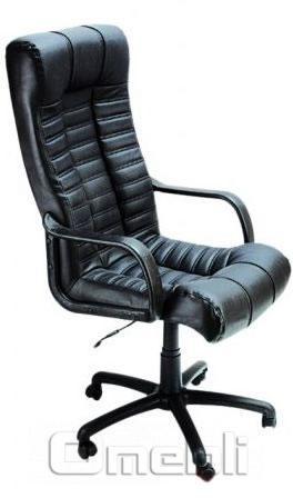 Кресло Атлантис PL Скаден черный кожзам A4609