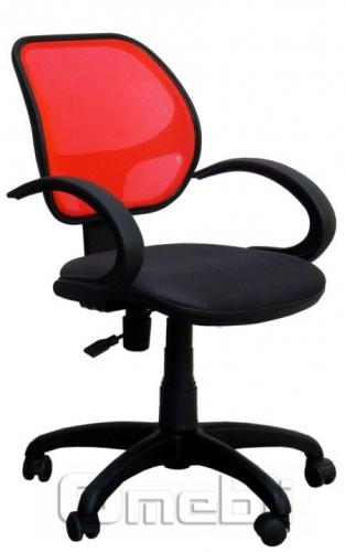 Кресло Байт AMF-5 Сетка красн/ Сетка черная A38274