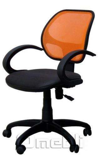 Кресло Байт AMF-5 Сетка оранж/ Сетка серая A38273