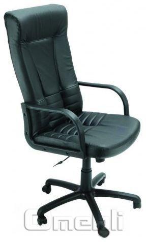 Кресло Чинция LUX Скаден черный кожзам A6706