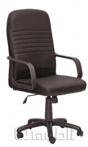Кресло Чинция PL Скаден черный кожзам A6645