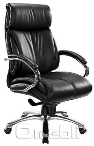Кресло для руководителя Аризона, кожа Люкс черная