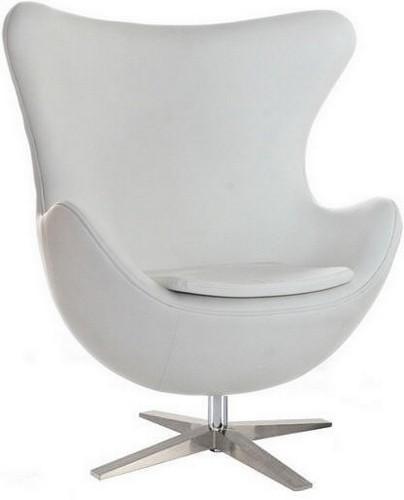 Дизайнерское кресло Эгг, цвет белый