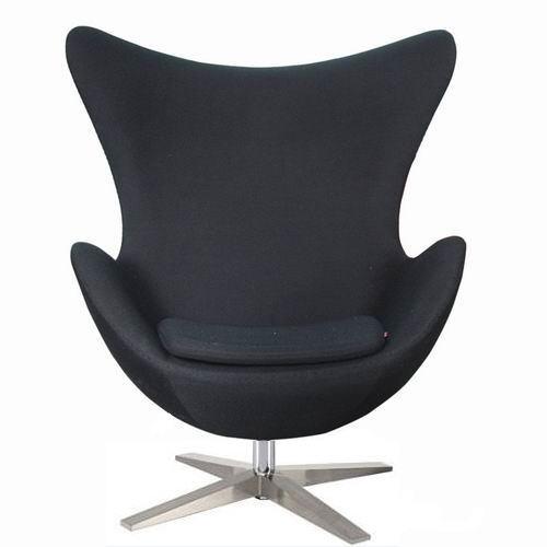 Кресло Эгг, цвет черный
